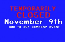 Temporarily Closed Infomation