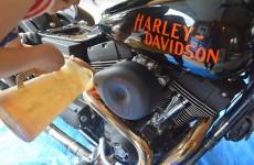 ハーレーのオイル交換