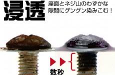 【新商品】ネジなどの錆を素早く除去ネジザウルスリキッド