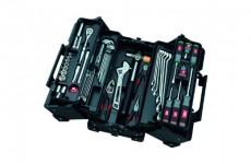 【新商品】KTC 9.5sq.両開きメタルケース 工具セット(新色)