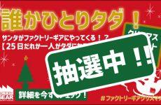 [ファクトリーギアクリスマス]抽選報告!!!